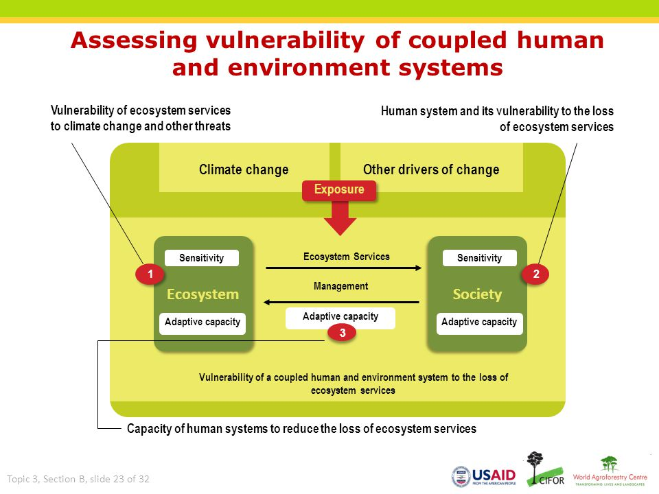 Assessing vulnerability of coupled human and environment systems