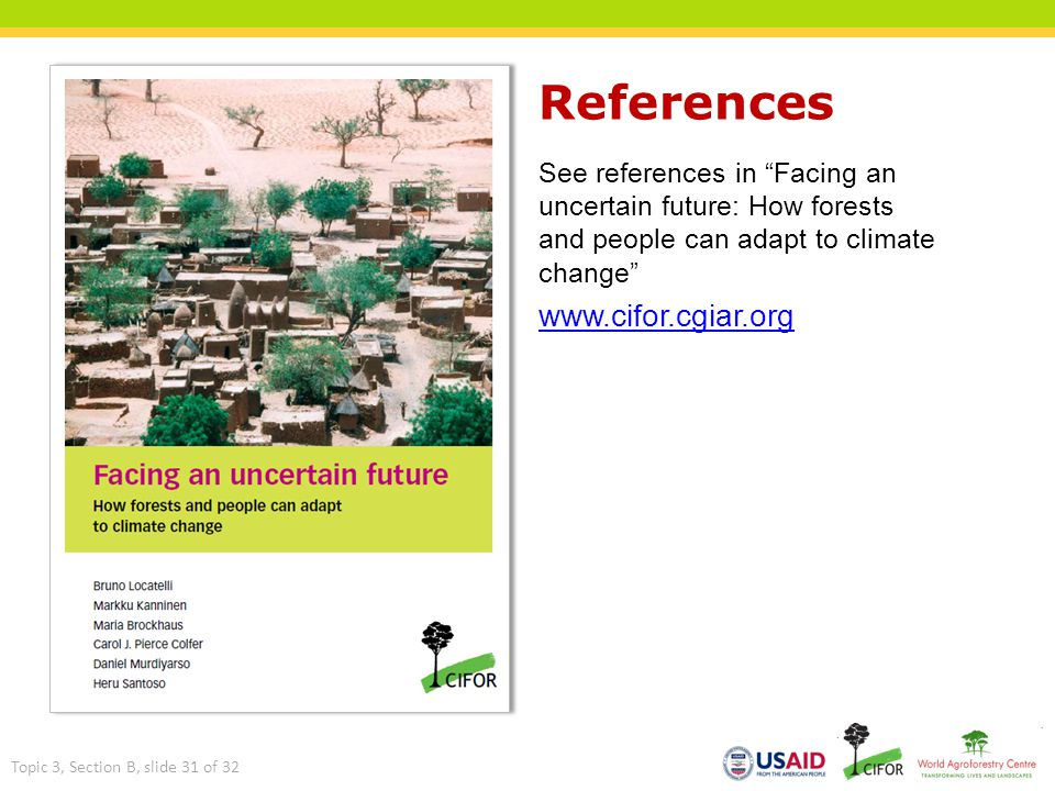 References www.cifor.cgiar.org