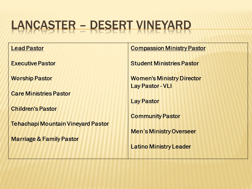 Lancaster – Desert Vineyard