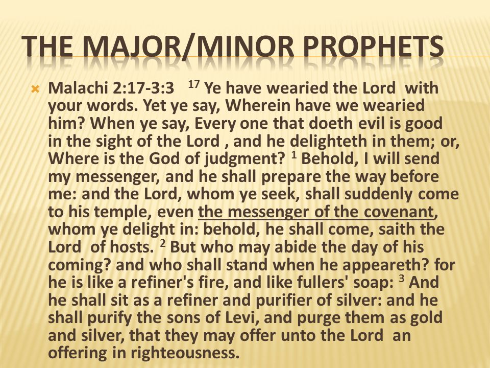 The Major/Minor Prophets