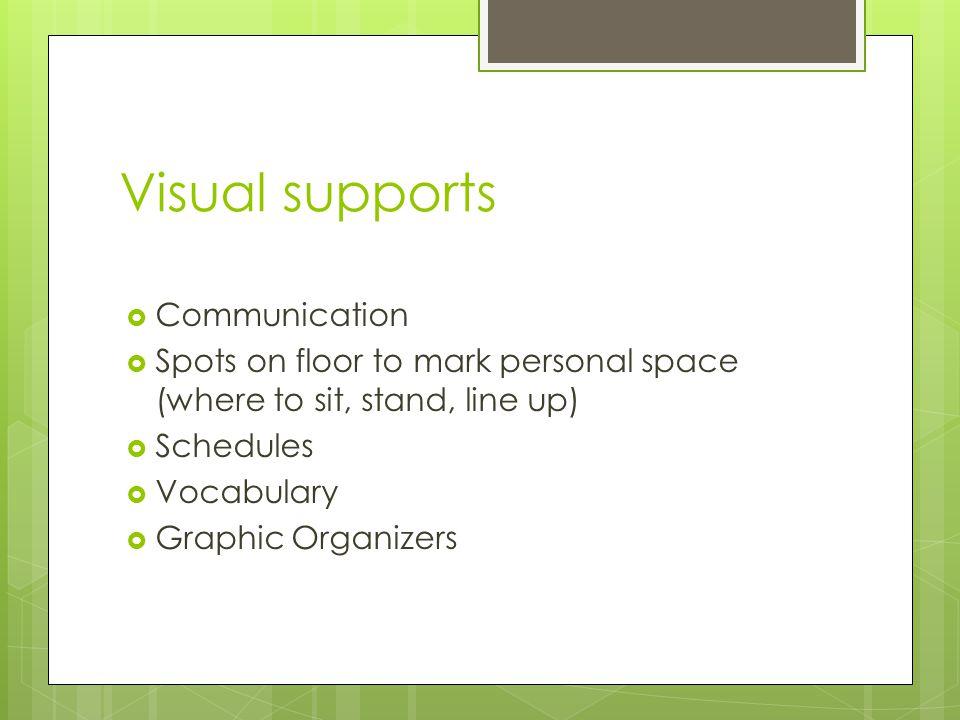 Visual supports Communication