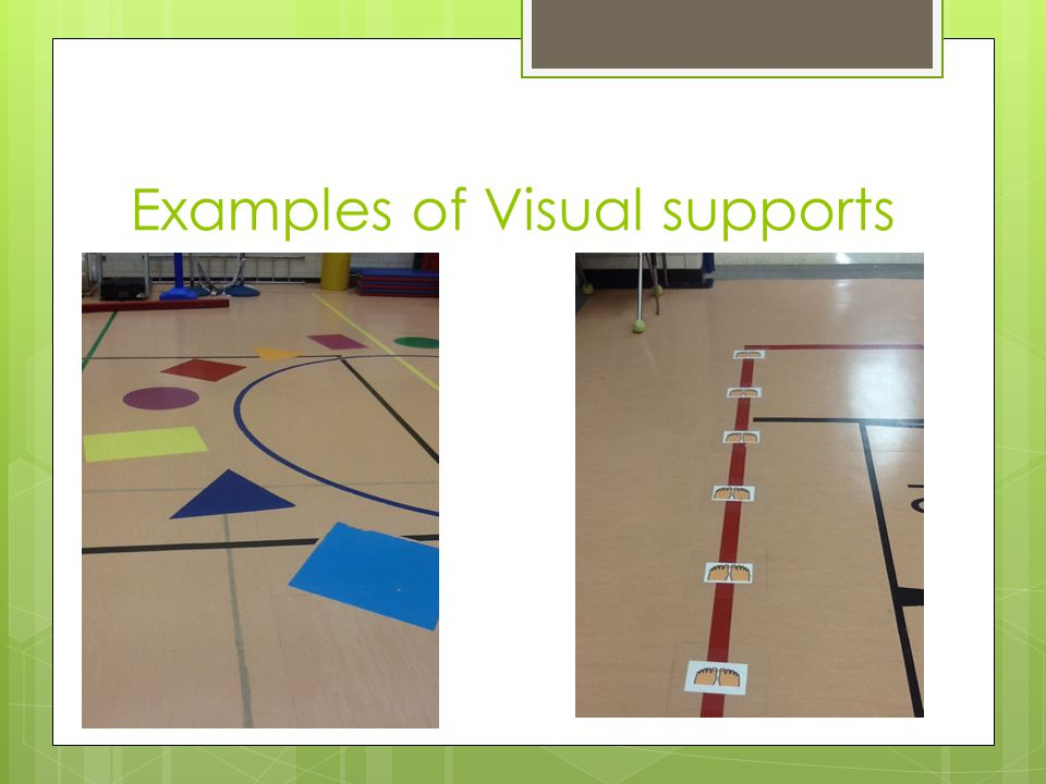 Examples of Visual supports