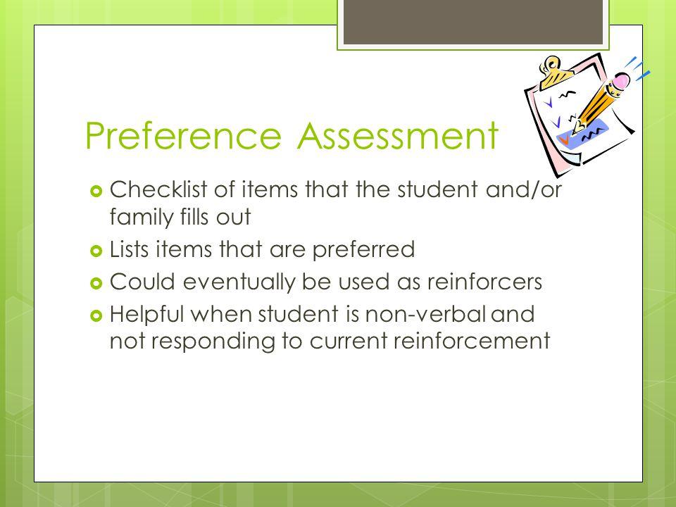 Preference Assessment