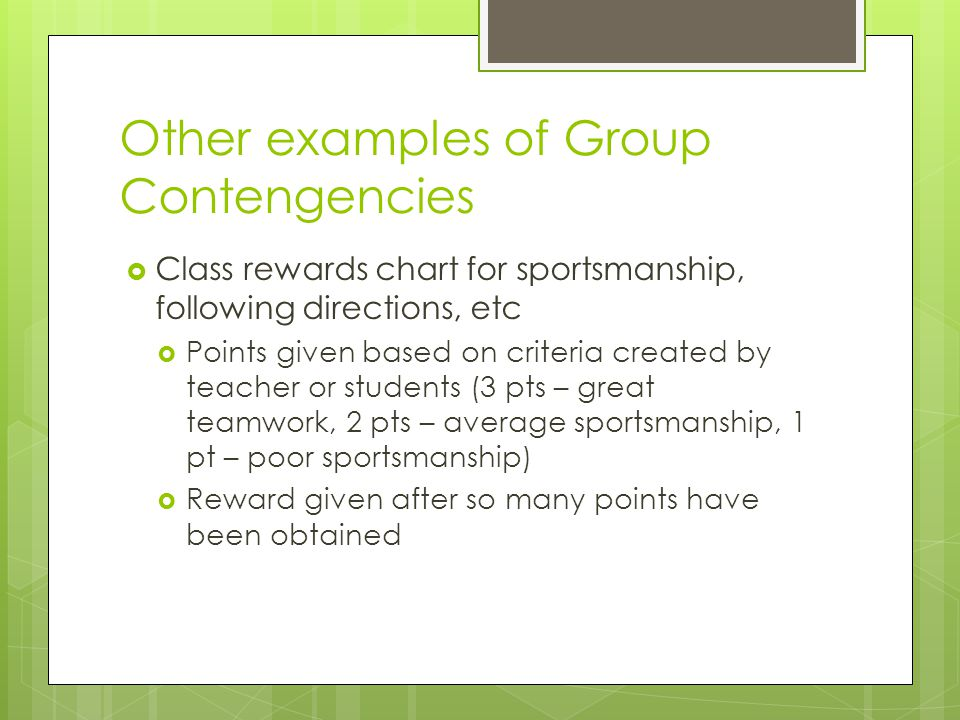 Other examples of Group Contengencies