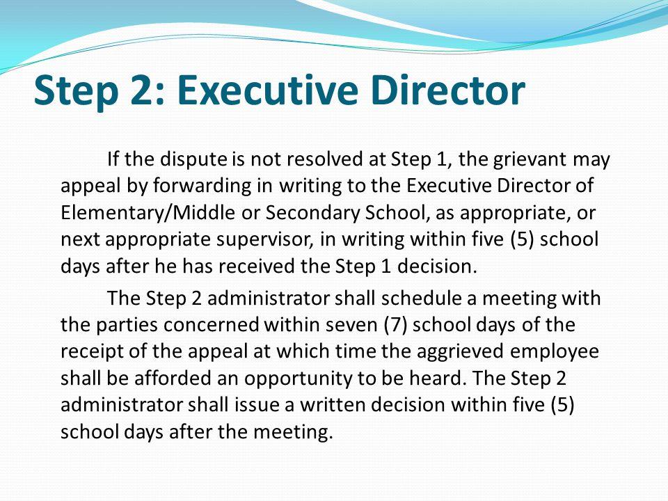 Step 2: Executive Director