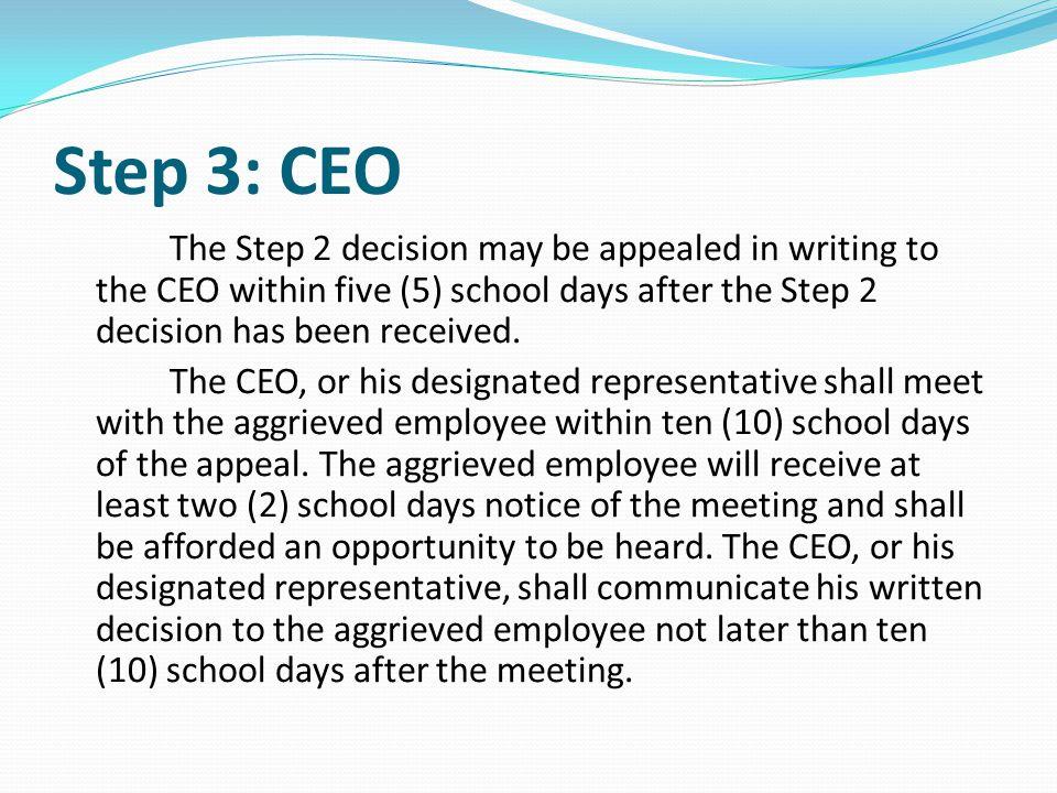 Step 3: CEO