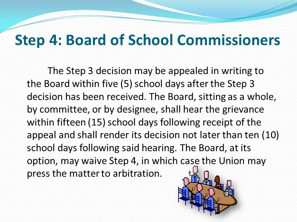 Step 4: Board of School Commissioners