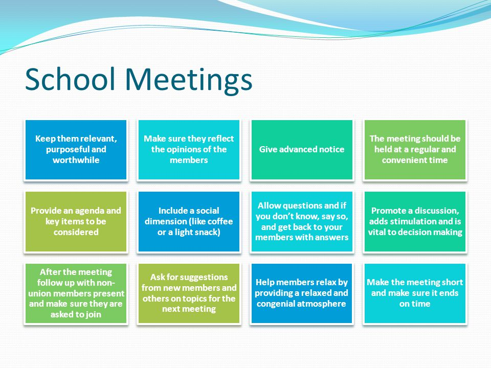 School Meetings Keep them relevant, purposeful and worthwhile