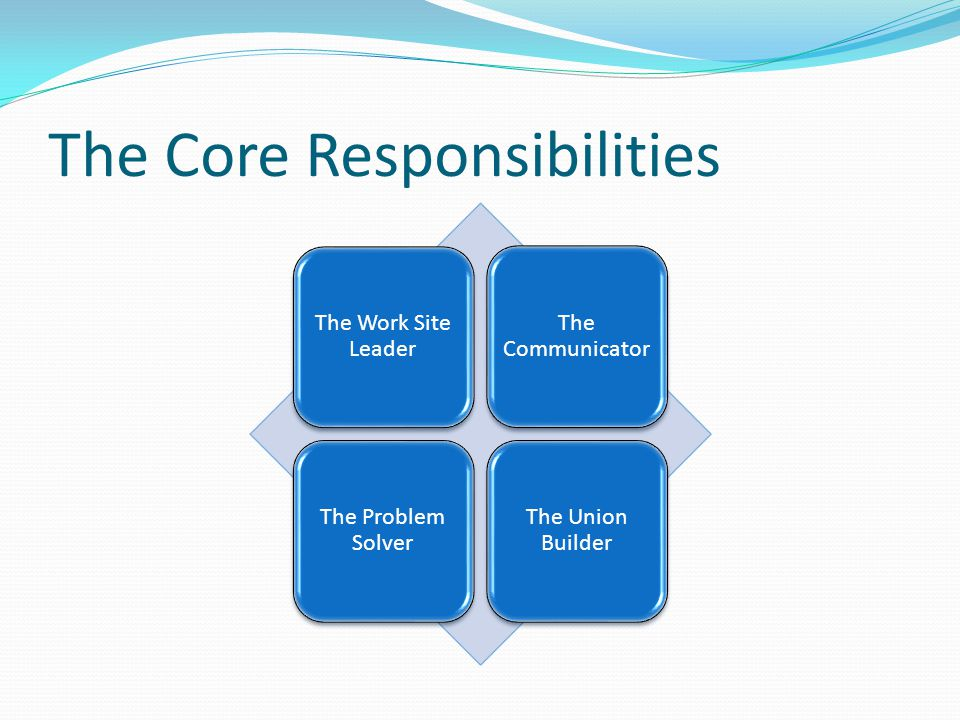 The Core Responsibilities