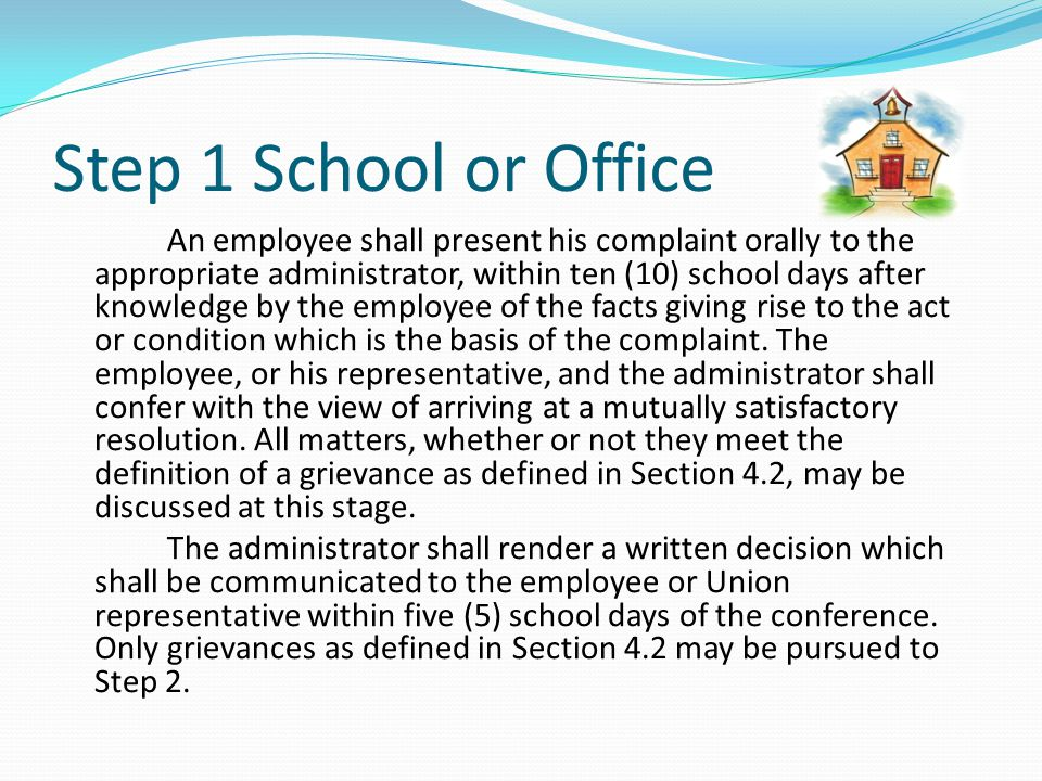 Step 1 School or Office