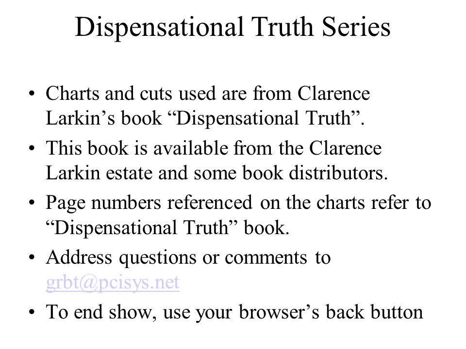 Dispensational Truth Series
