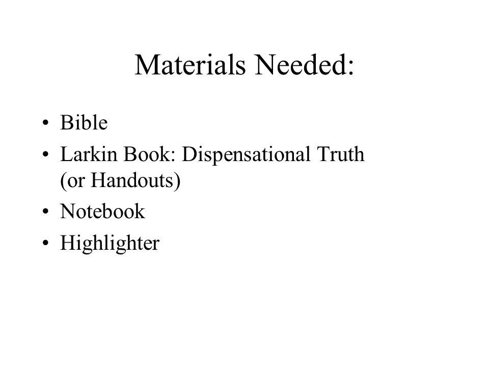 Materials Needed: Bible