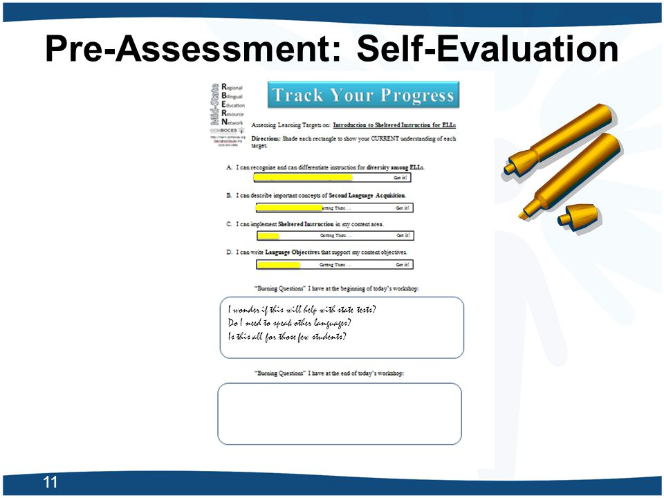 Pre-Assessment: Self-Evaluation