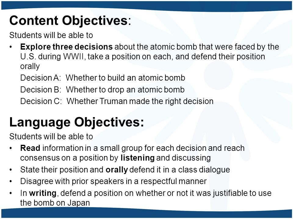 Content Objectives: Language Objectives: Students will be able to