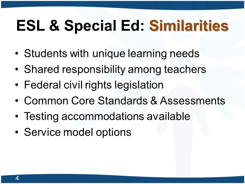 ESL & Special Ed: Similarities