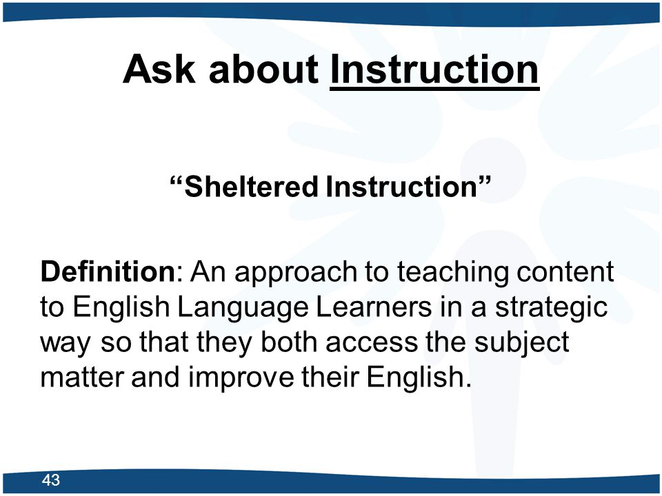 Ask about Instruction