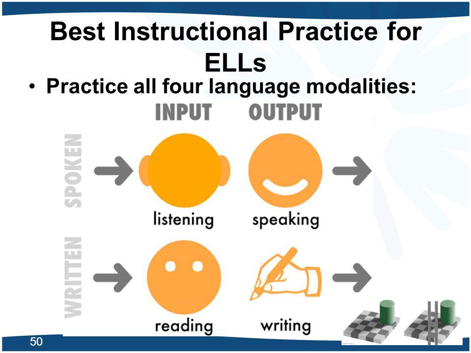 Best Instructional Practice for ELLs