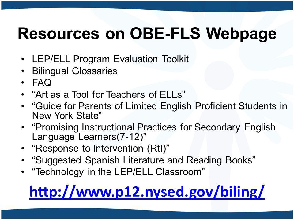 Resources on OBE-FLS Webpage