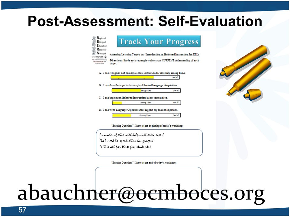 Post-Assessment: Self-Evaluation
