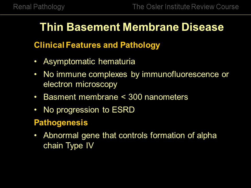 Thin Basement Membrane Disease