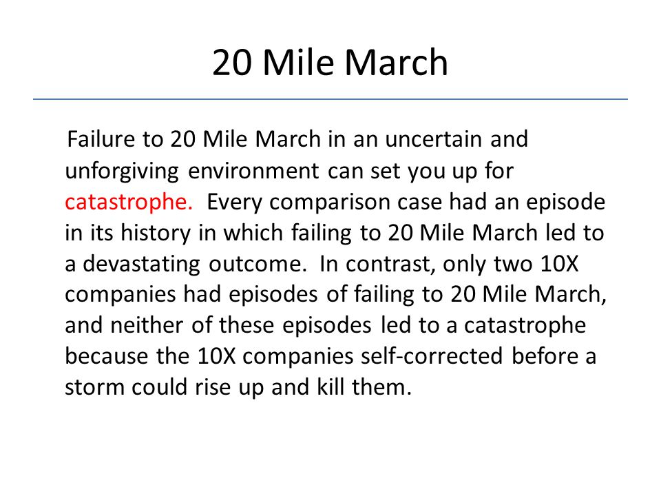 20 Mile March