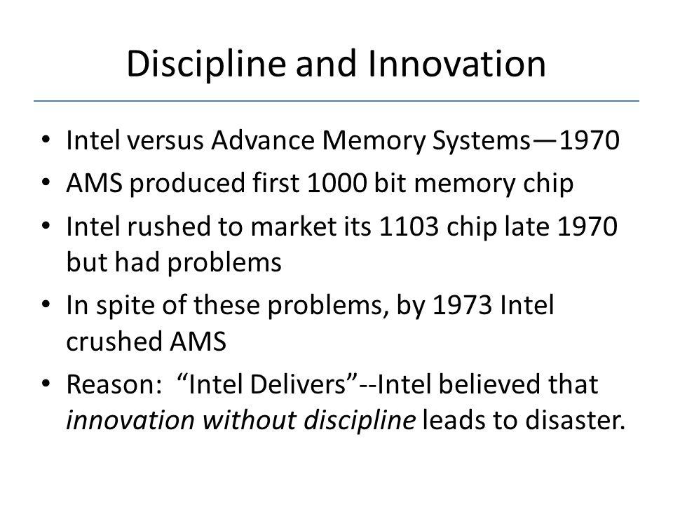 Discipline and Innovation