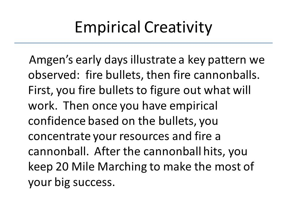 Empirical Creativity