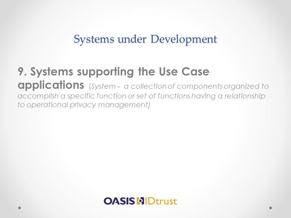 Systems under Development
