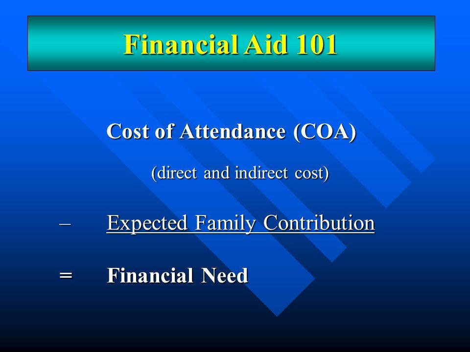 Cost of Attendance (COA)