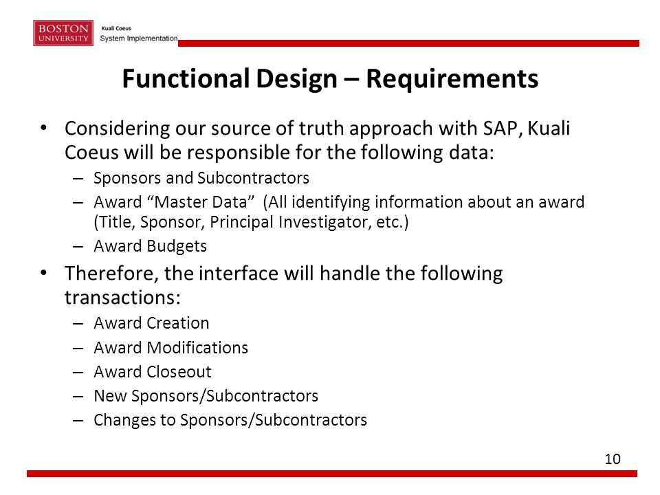 Functional Design – Requirements