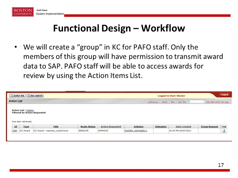Functional Design – Workflow