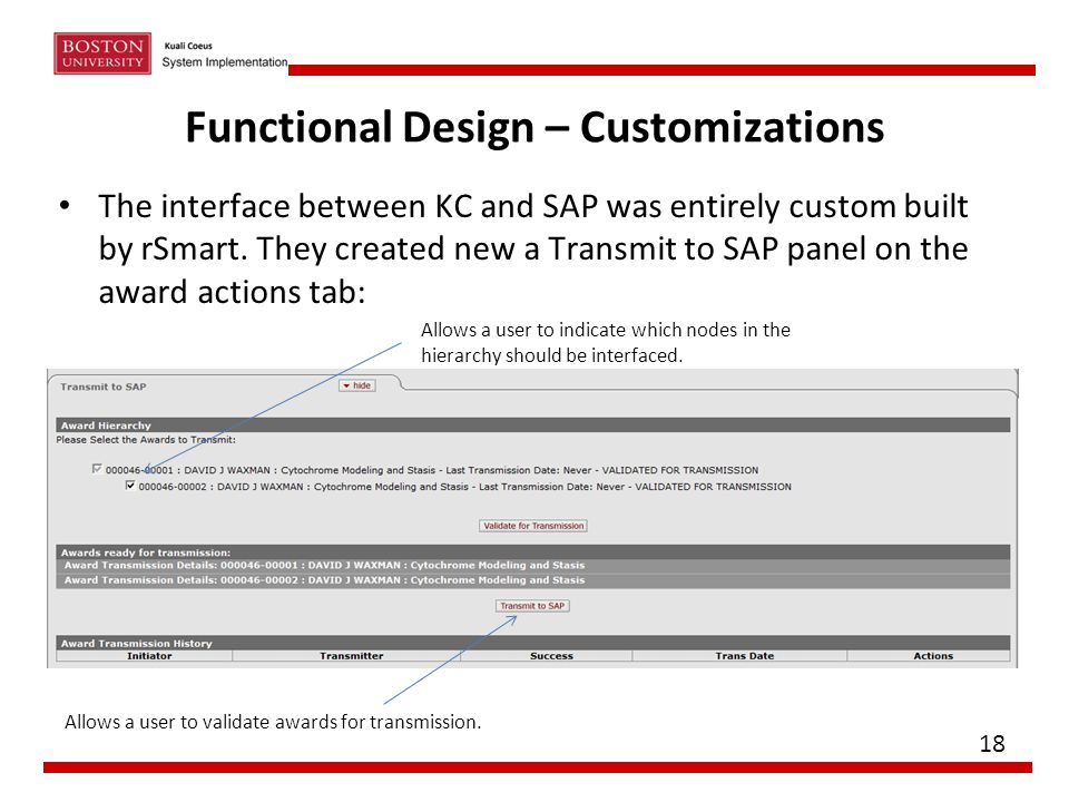 Functional Design – Customizations