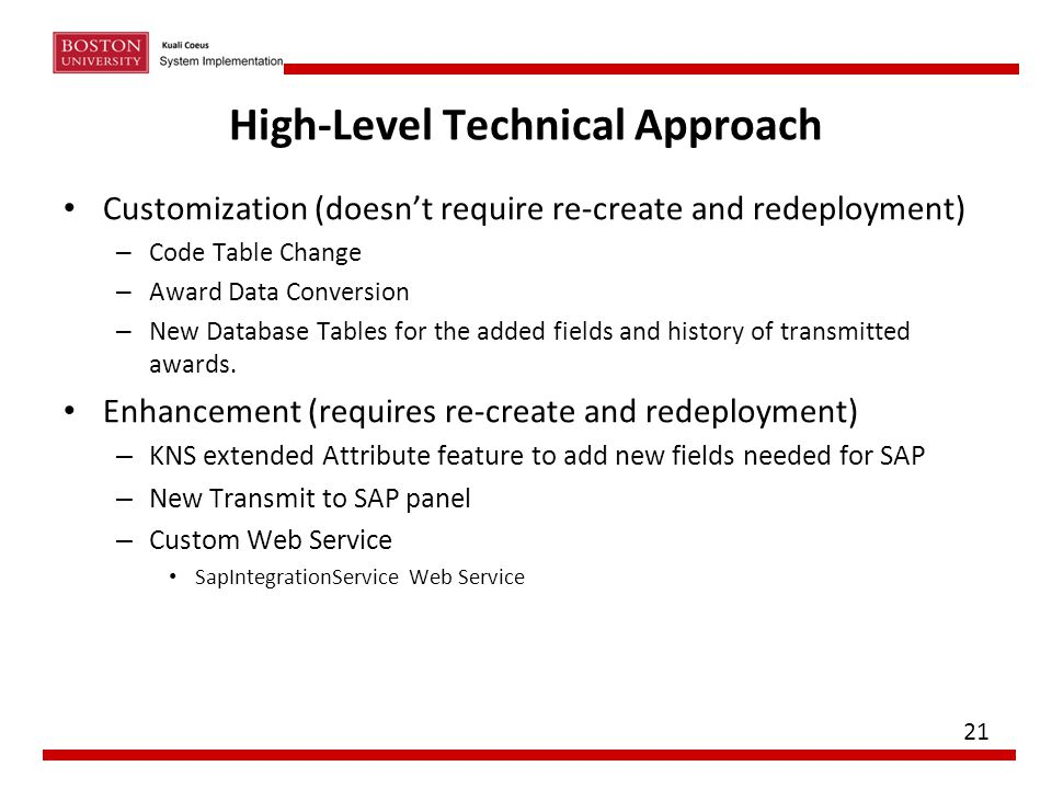 High-Level Technical Approach