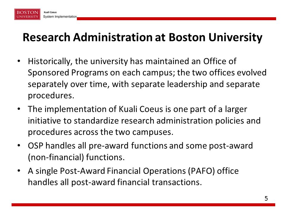 Research Administration at Boston University