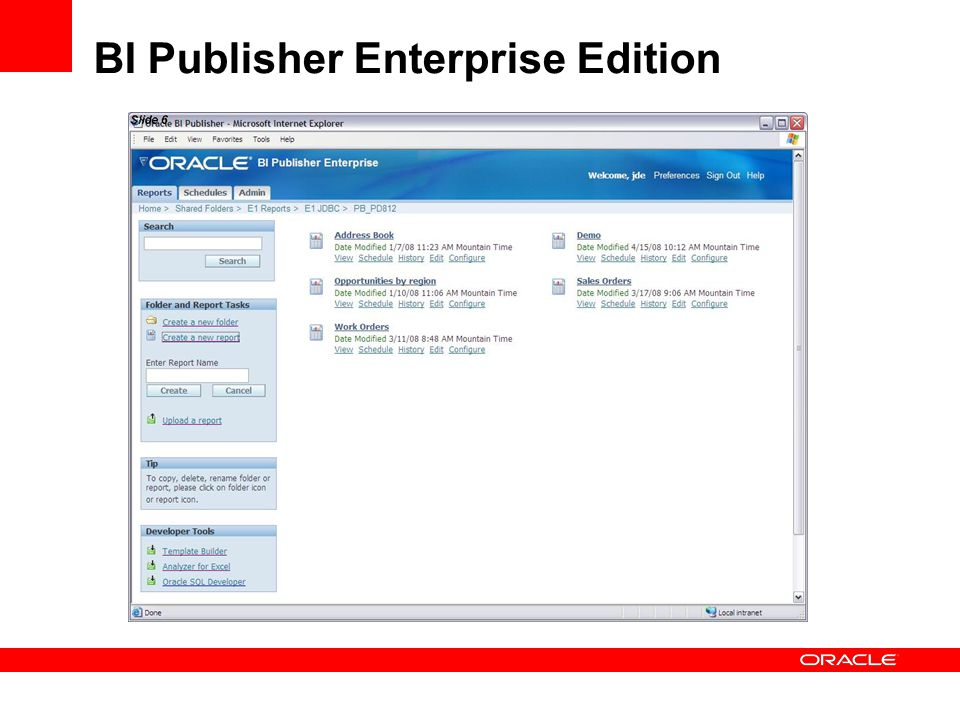 BI Publisher Enterprise Edition