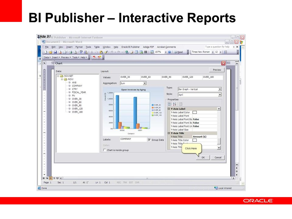 BI Publisher – Interactive Reports