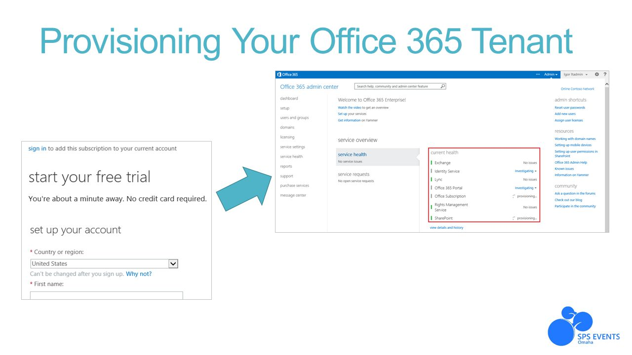 Provisioning Your Office 365 Tenant