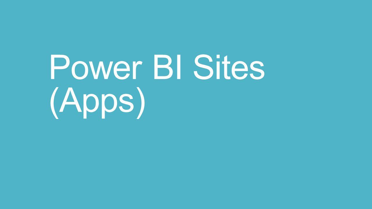 Power BI Sites (Apps)