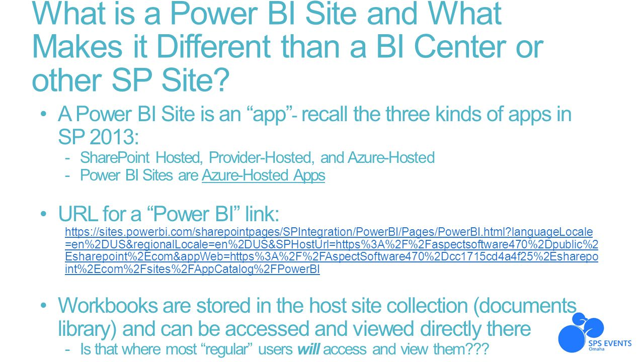What is a Power BI Site and What Makes it Different than a BI Center or other SP Site