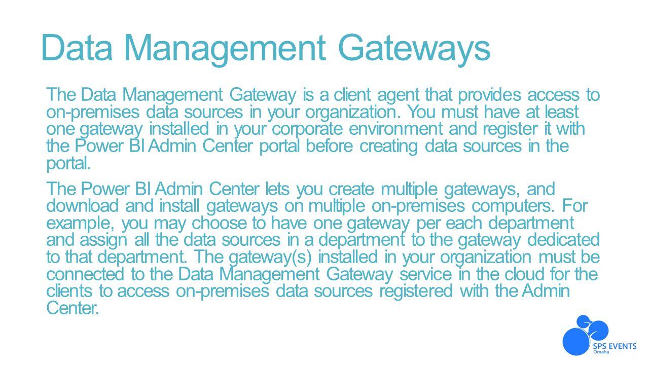 Data Management Gateways