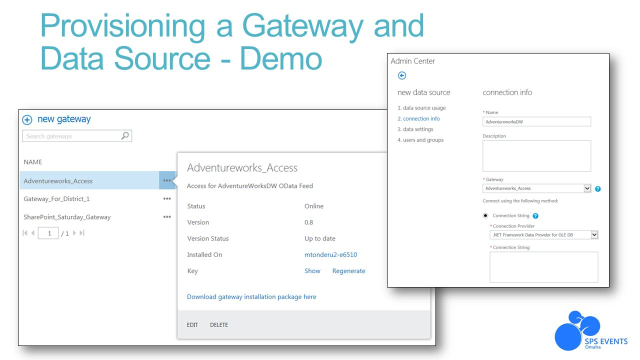 Provisioning a Gateway and Data Source - Demo