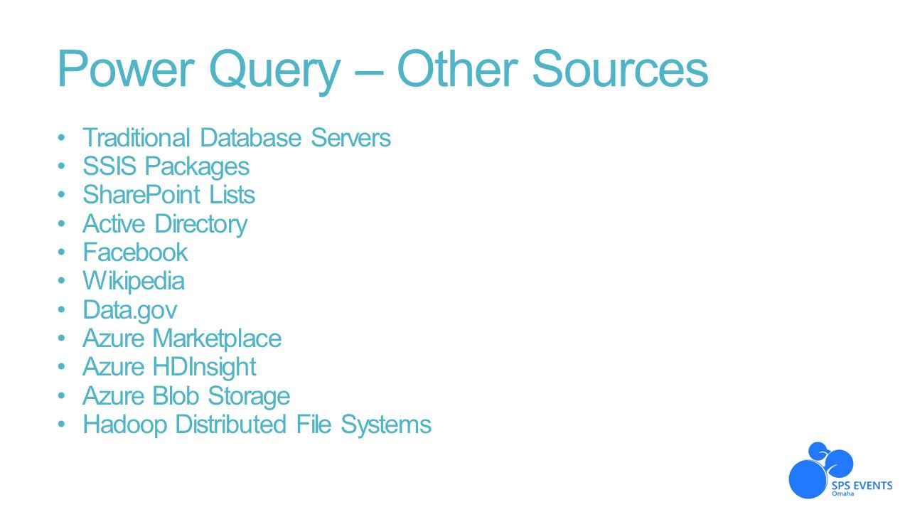 Power Query – Other Sources