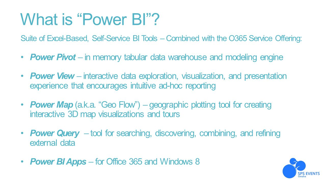 What is Power BI Suite of Excel-Based, Self-Service BI Tools – Combined with the O365 Service Offering:
