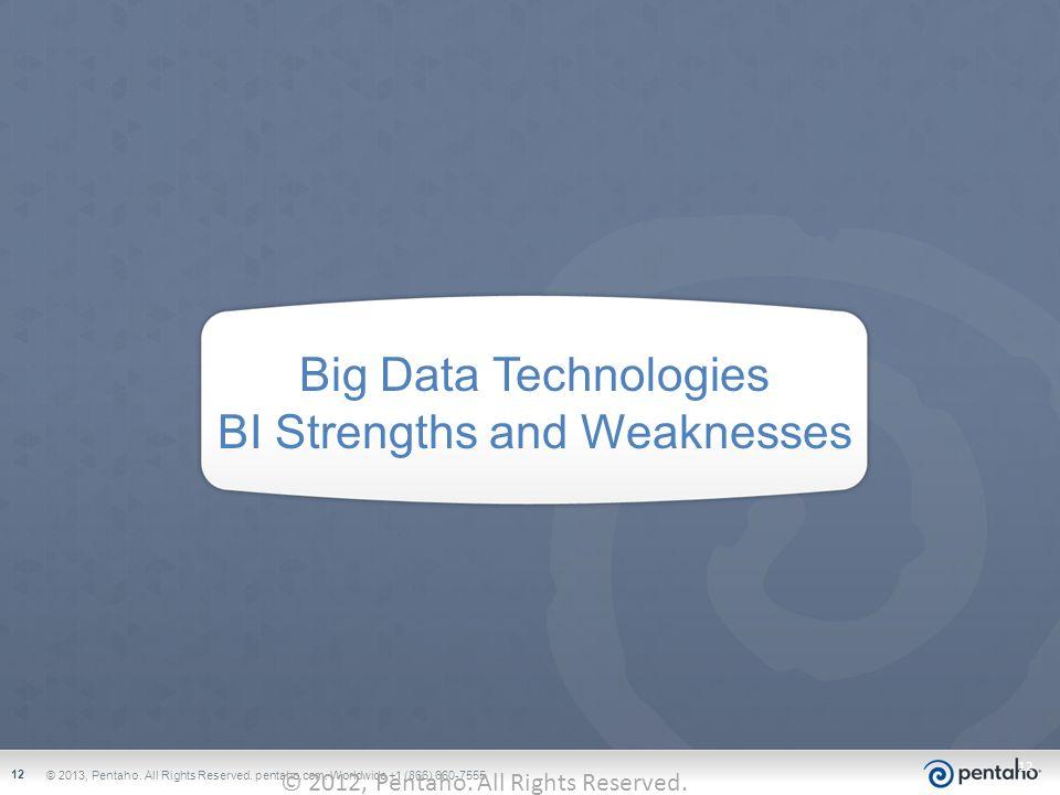 Big Data Technologies BI Strengths and Weaknesses