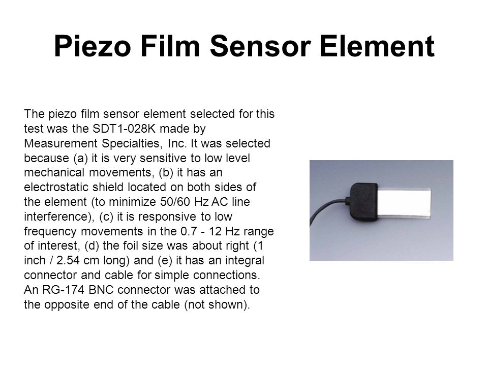 Piezo Film Sensor Element
