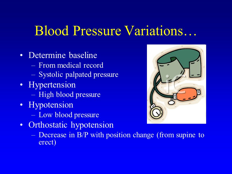Blood Pressure Variations…