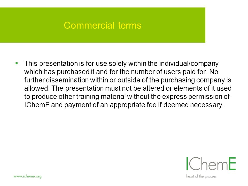 Commercial terms