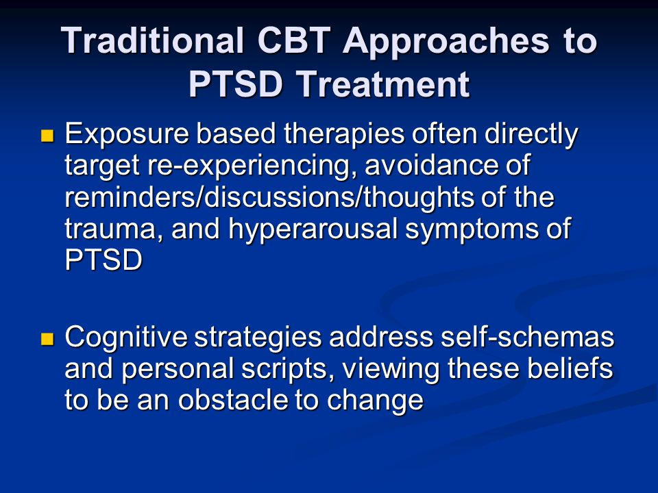 Traditional CBT Approaches to PTSD Treatment