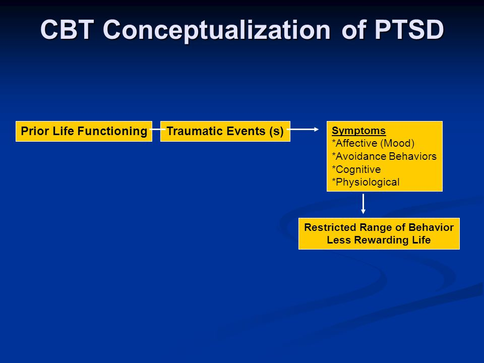 CBT Conceptualization of PTSD