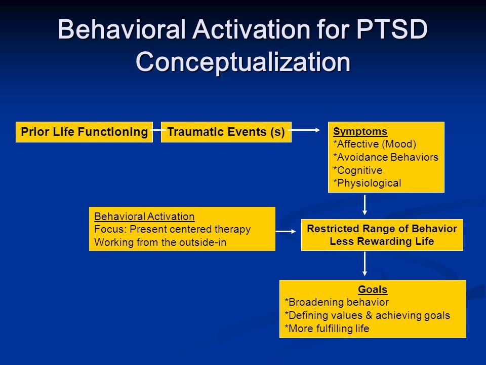 Behavioral Activation for PTSD Conceptualization